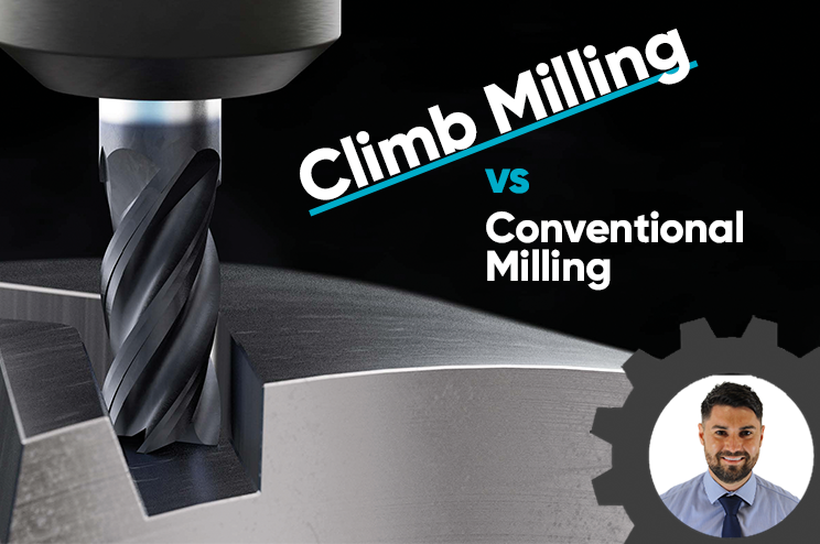 What is the difference between climb milling and conventional milling?